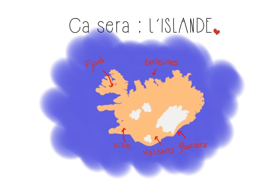 Dessin map Islande